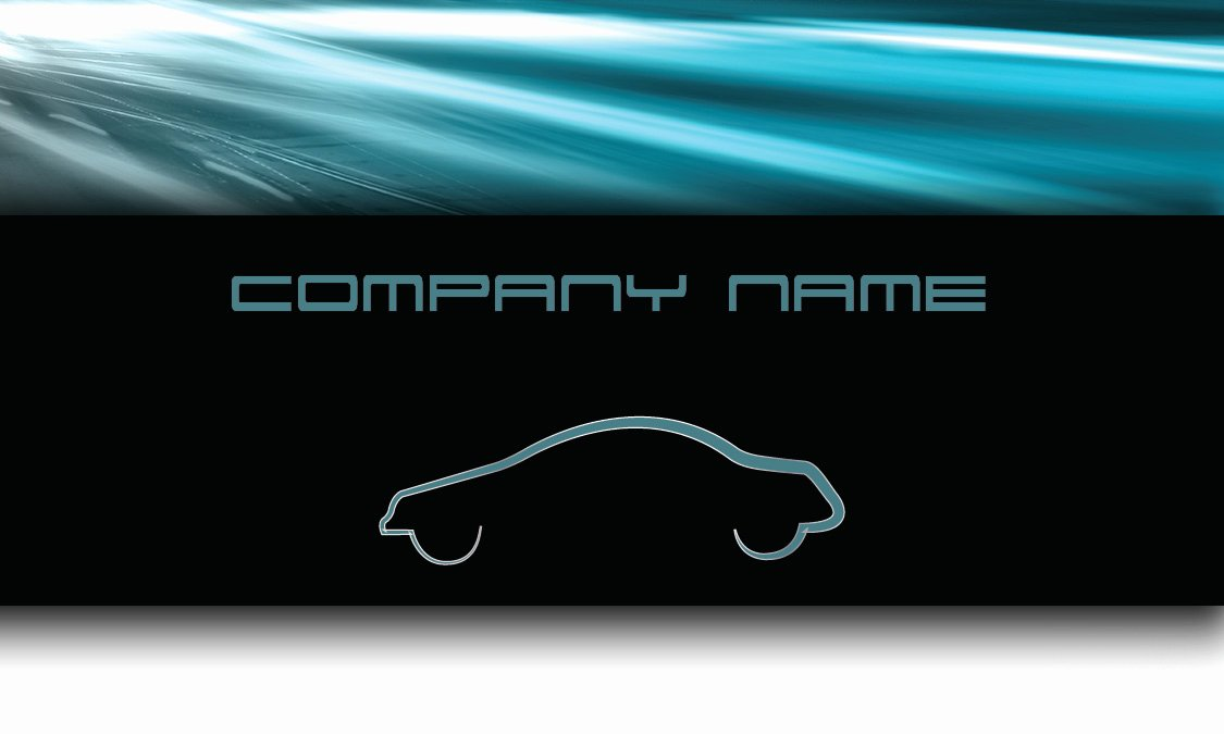Automotive Business Card Template Free Luxury Blue Road Automotive Business Card Design