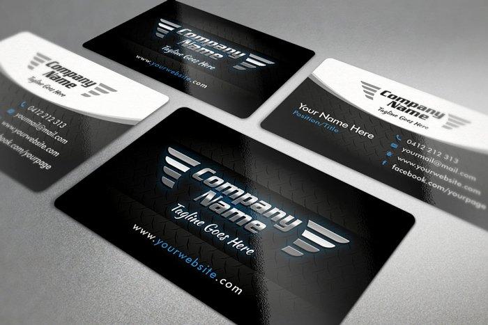 Automotive Business Card Template Free Unique 20 Free Black and White Business Card Templates Designyep