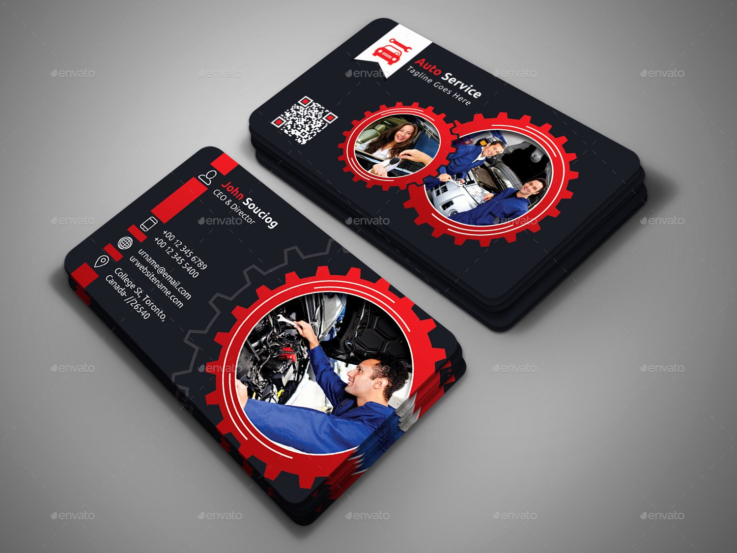 Automotive Business Card Template Free Unique Auto Service Business Card by Designsign