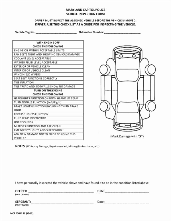 Automotive Inspection Checklist Template Best Of 20 Vehicle Checklist Samples & Templates Pdf Word format