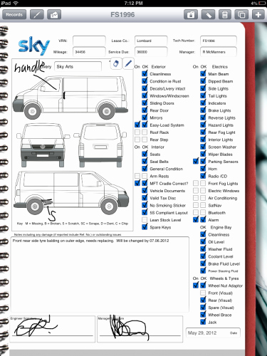 Automotive Inspection Checklist Template Elegant Car Rental Pany Uses Ipad for Vehicle Inspection