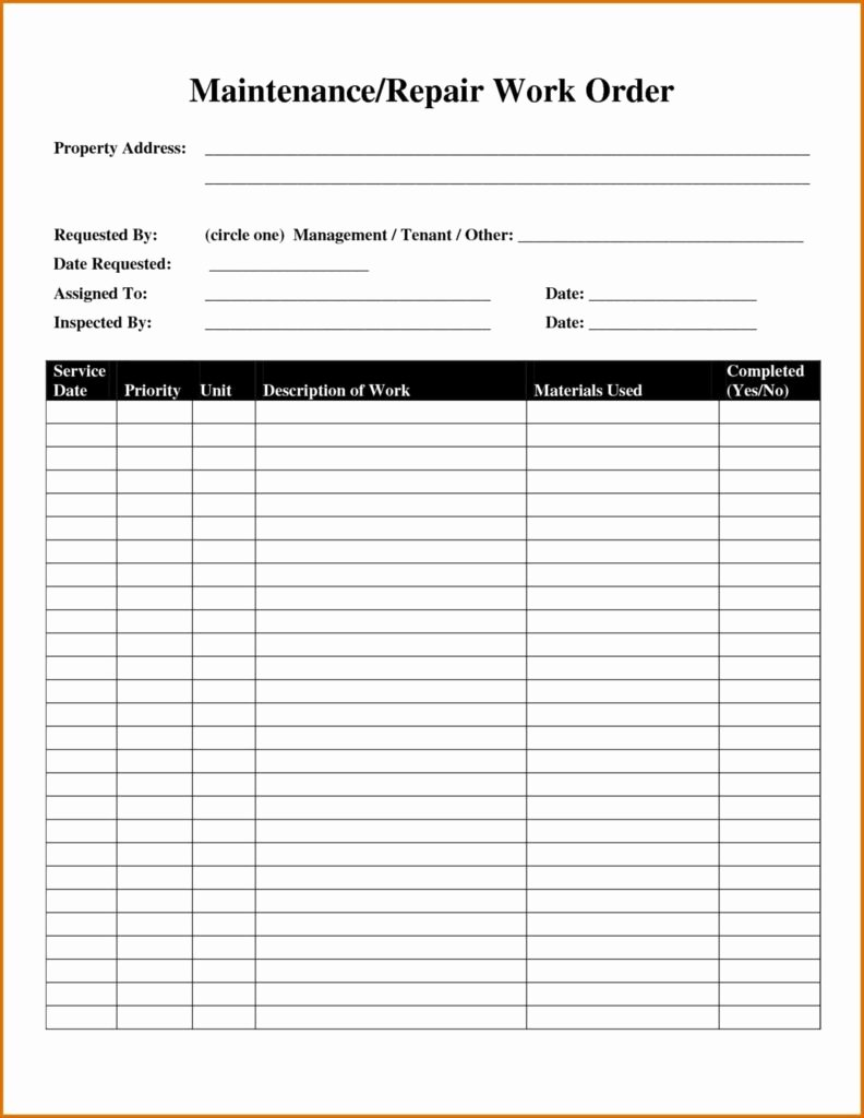 Automotive Work order Template Inspirational Mechanic Shop Invoice Templates and Maintenance Automotive