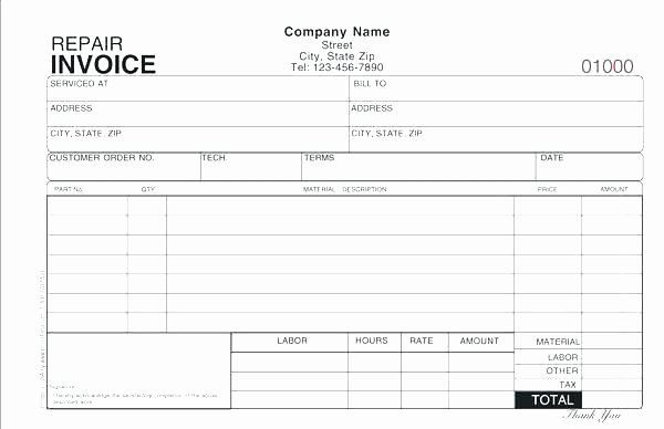 Automotive Work orders Template Beautiful Automotive Repair order form Template Ce Free Remarkable