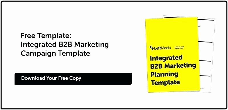 B2b Marketing Plan Template Inspirational B2b Marketing Plan format Outbound Planning Template