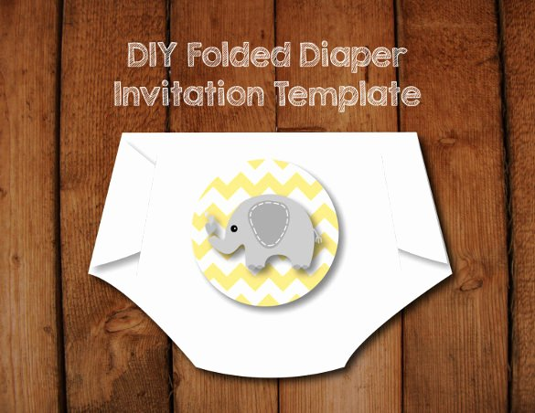 Baby Shower Diaper Invitations Template Best Of 10 Diaper Invitation Templates Free Sample Example