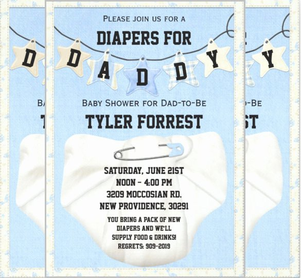 Baby Shower Diaper Invitations Template Best Of 35 Diaper Invitation Templates – Psd Vector Eps Ai