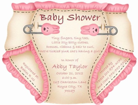 Baby Shower Diaper Invitations Template Best Of Baby Shower Diaper Invitations or Thank You Notes