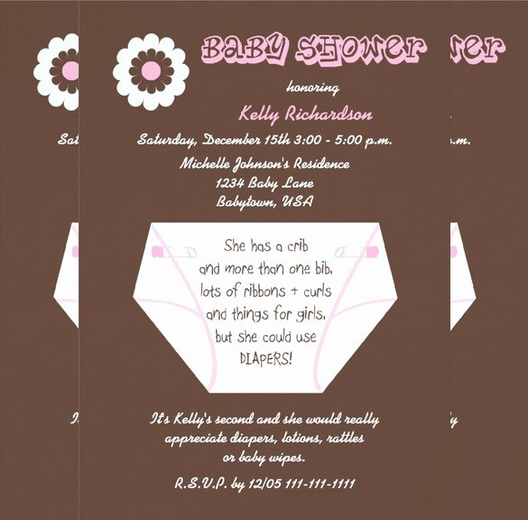Baby Shower Diaper Invitations Template Lovely 35 Diaper Invitation Templates – Psd Vector Eps Ai
