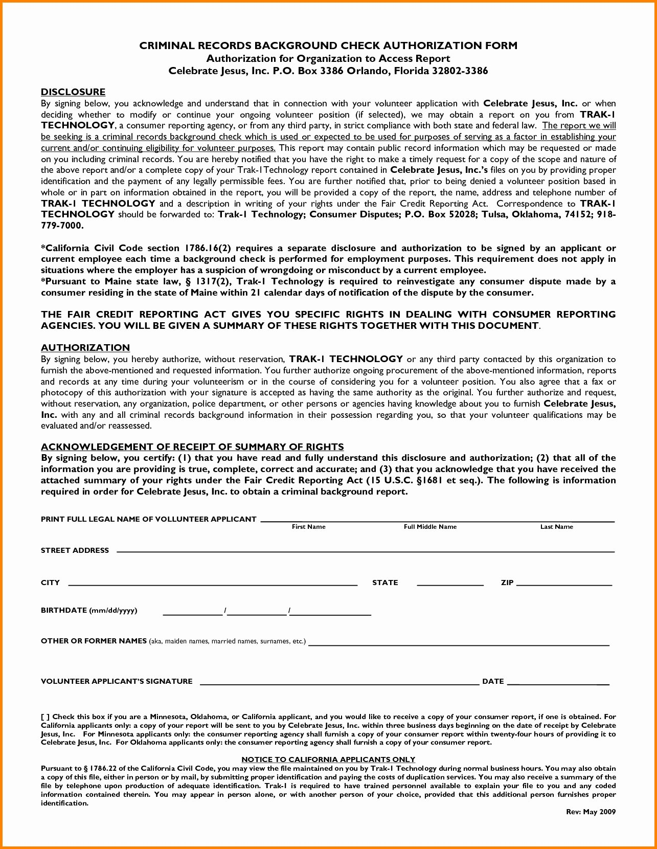 Background Check form Template Awesome Background Check Authorization form Template California