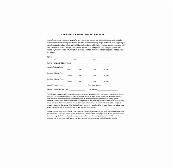 Background Check form Template Beautiful 9 Background Check Information forms & Templates Pdf