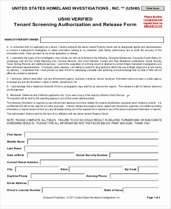 Background Check form Template Elegant 8 Sample Background Check Release forms