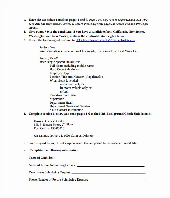 Background Check form Template New 11 Background Check Authorization forms to Download