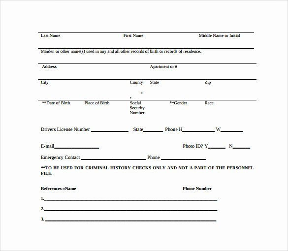 Background Check form Template Unique 11 Background Check Authorization forms to Download