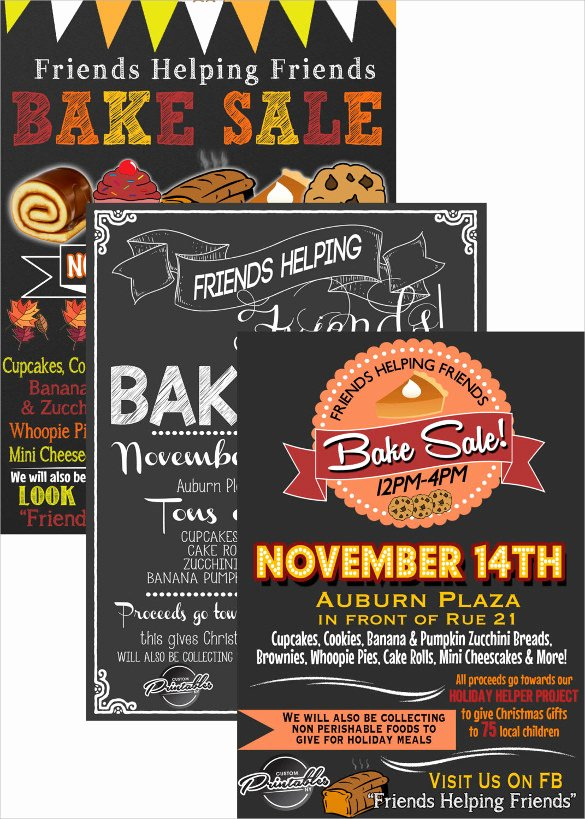 Bake Sale Flyer Template Awesome 20 Bake Sale Flyer Templates