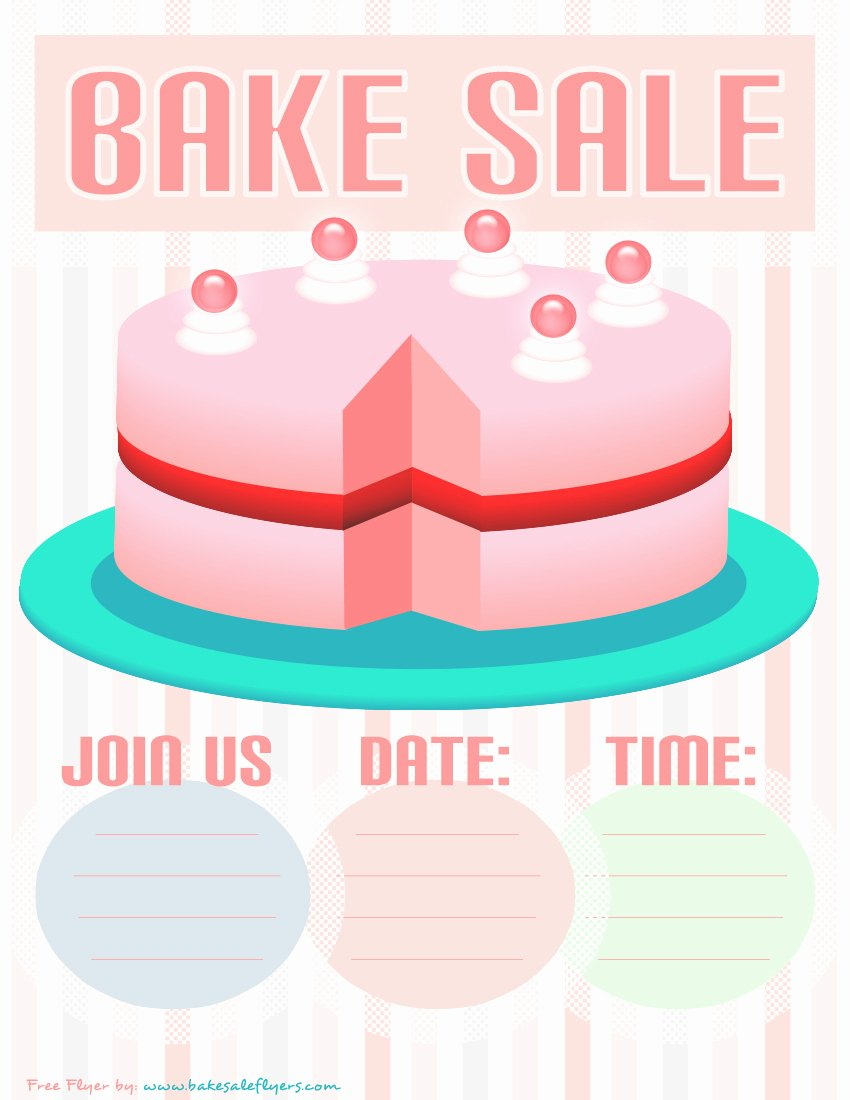 Bake Sale Flyer Template Awesome Bake Sale Flyers – Free Flyer Designs