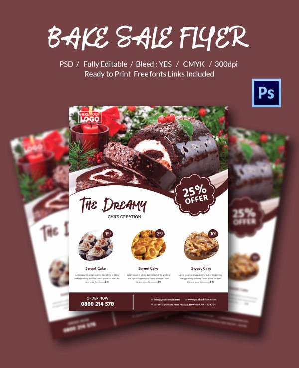 Bake Sale Flyer Template Best Of Bake Sale Flyer Template 34 Free Psd Indesign Ai