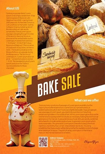 Bake Sale Flyer Template Best Of Free Bake Sale Flyer Template In Shop – by Elegantflyer
