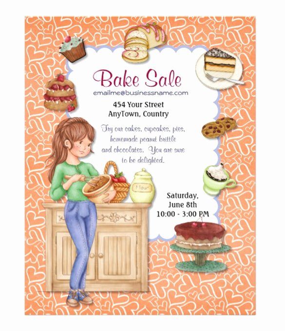 Bake Sale Flyer Template Elegant 34 Bake Sale Flyer Templates Free Psd Indesign Ai
