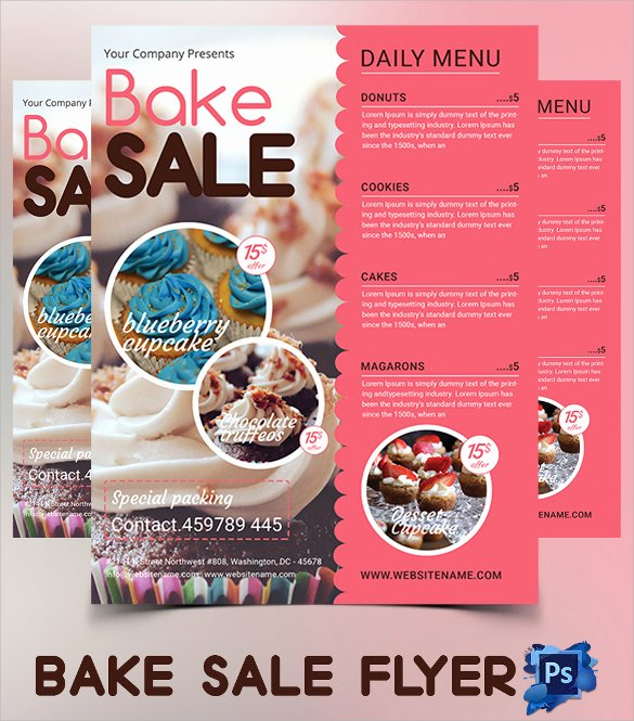Bake Sale Flyer Template Fresh 20 Bake Sale Flyer Templates