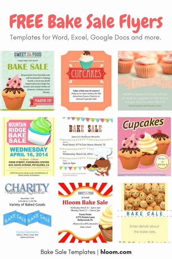 Bake Sale Flyer Template Fresh 22 Best Bake Sale Flyers Images On Pinterest