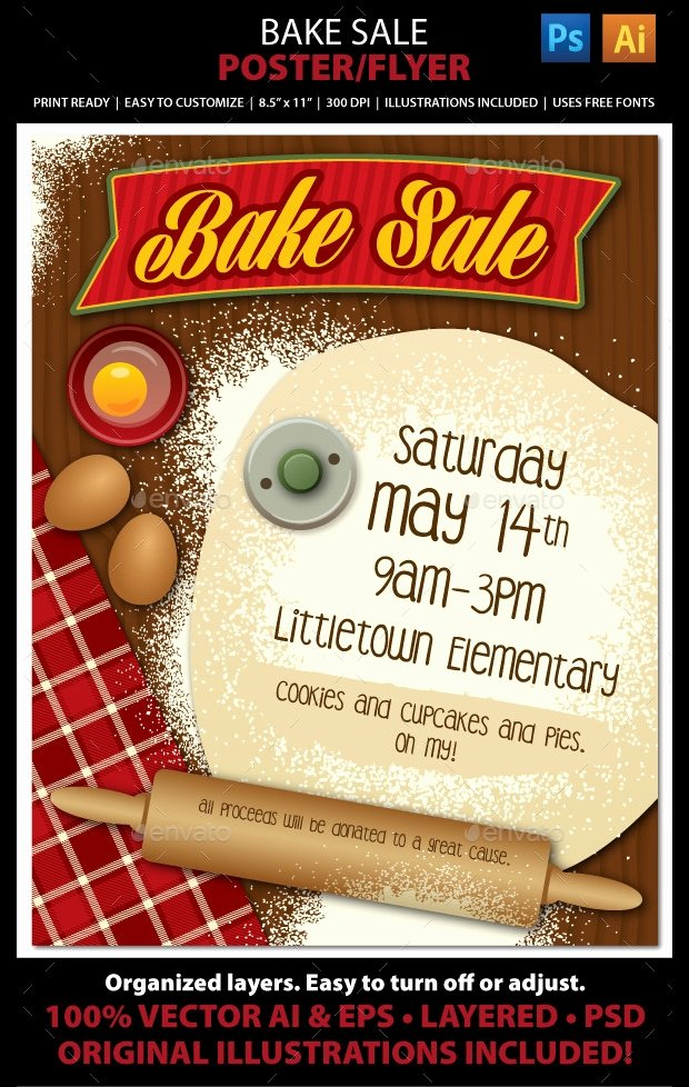 Bake Sale Flyer Template Fresh 25 Bake Sale Flyer Templates Ms Word Publisher