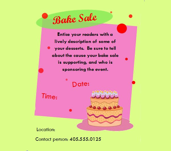 Bake Sale Flyer Template Inspirational 28 Bake Sale Flyer Templates Psd Vector Eps Jpg