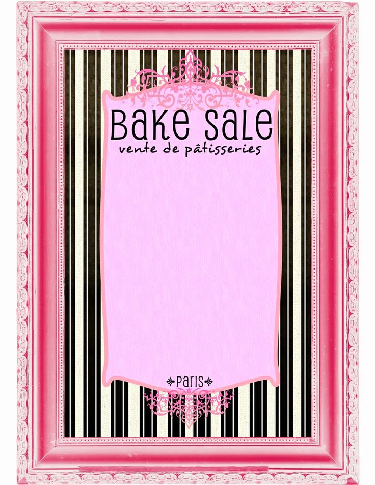 Bake Sale Flyer Template Inspirational 9 Best Of Bake Sale Printable Template Free
