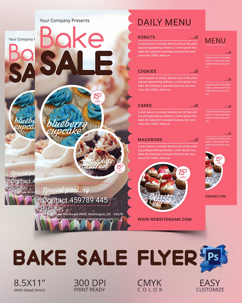 Bake Sale Flyer Template Inspirational Bake Sale Flyer Template 34 Free Psd Indesign Ai