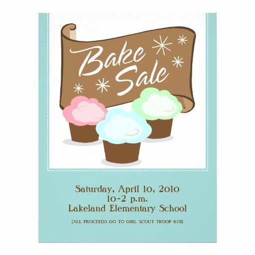 Bake Sale Flyer Template Inspirational Bake Sale Flyers