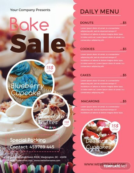 Bake Sale Flyer Template Inspirational Free Printable Bake Sale Flyer Template