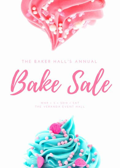 Bake Sale Flyer Template Inspirational Pink & White Cute Feminine Bake Sale Flyer Templates by