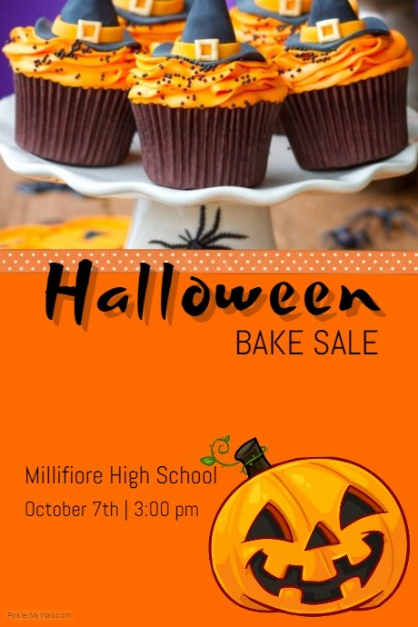 Bake Sale Flyer Template Lovely Halloween Bake Sale Template