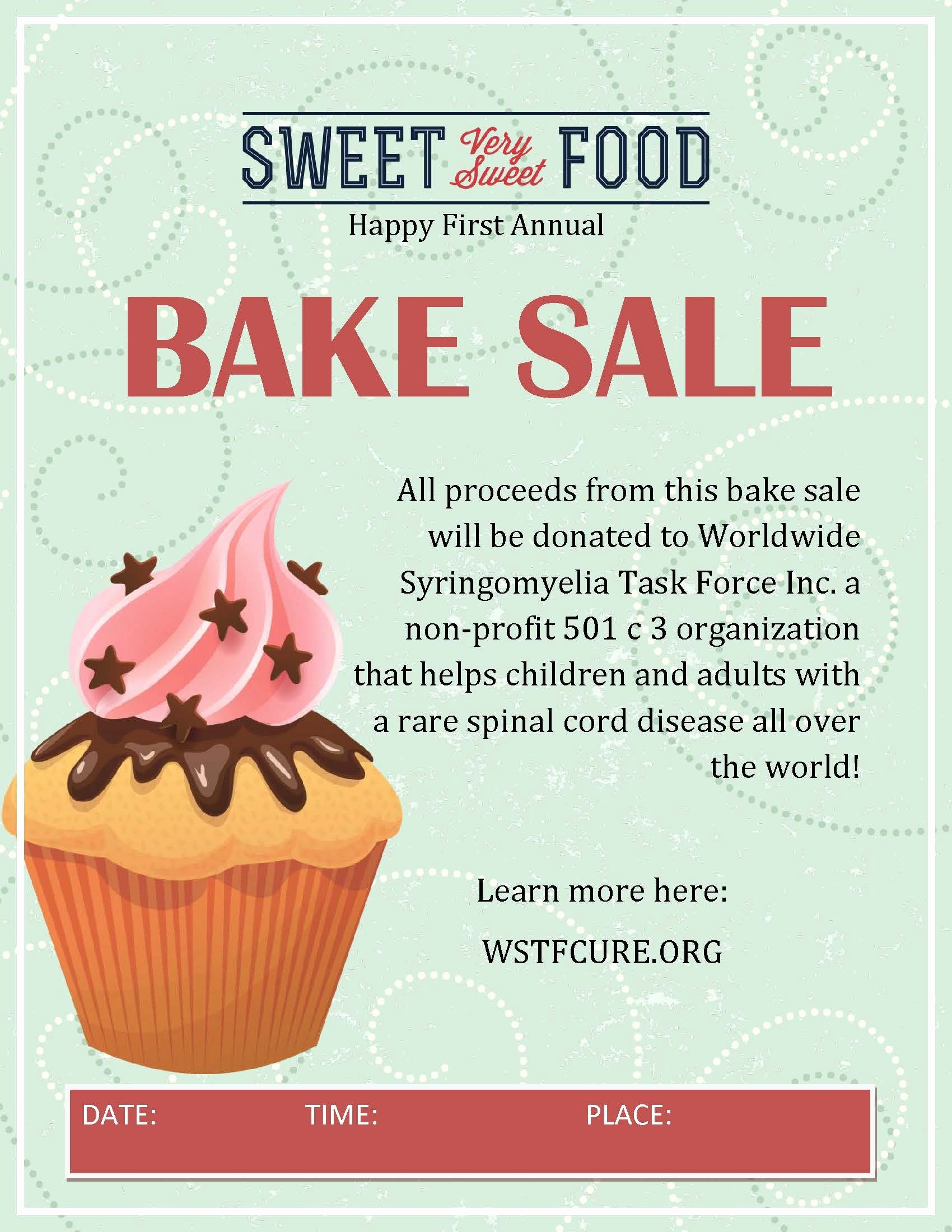 Bake Sale Flyer Template Lovely Participate and Do A Bake Sale In Your area 100 Percent