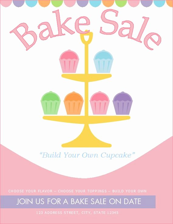 Bake Sale Flyer Template Luxury Free Bake Sale Flyer Template