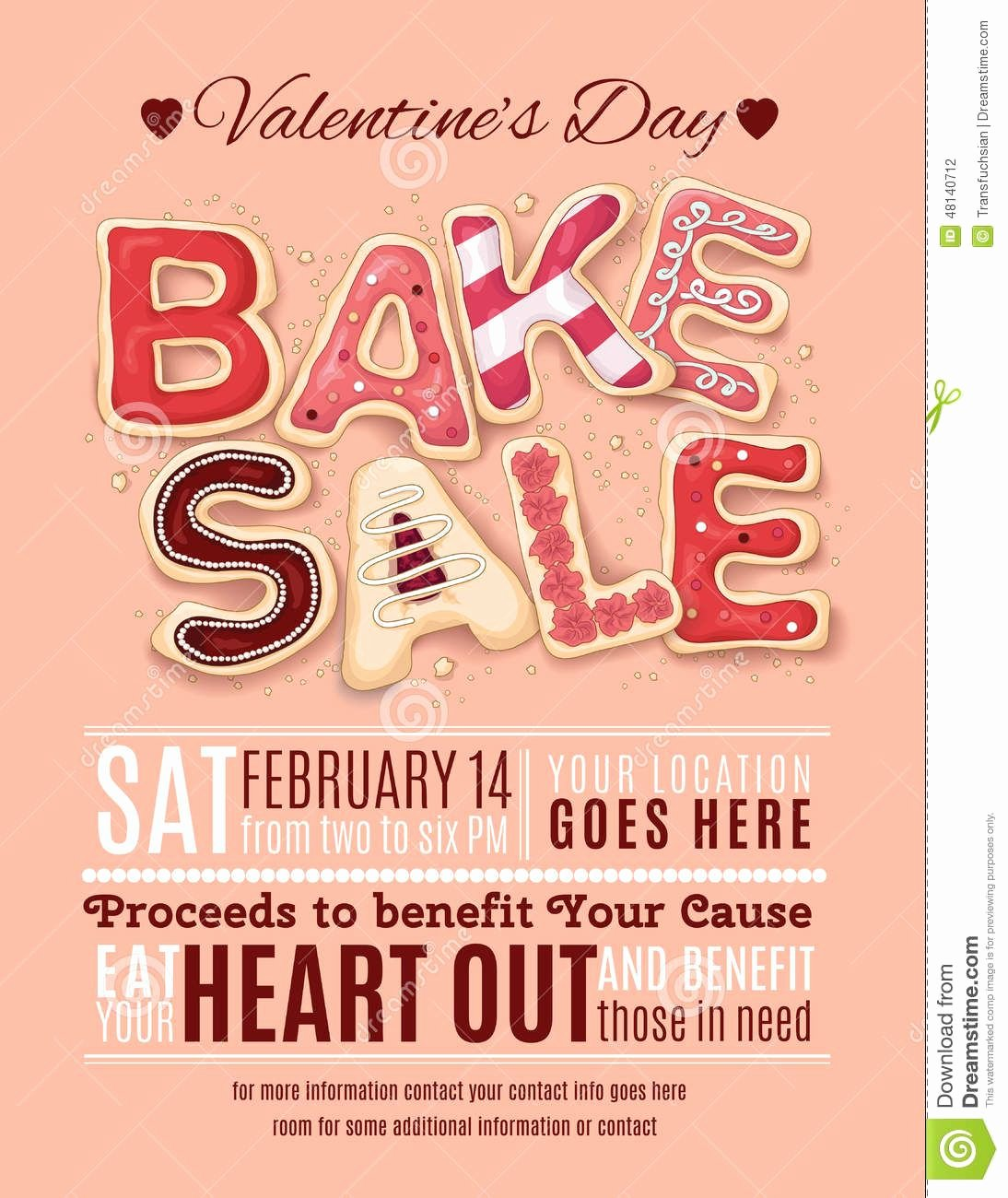 Bake Sale Flyer Template Luxury Valentines Day Bake Sale Flyer Template Download From