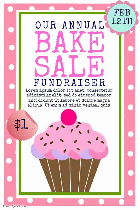 Bake Sale Flyer Template New Bake Sale Template