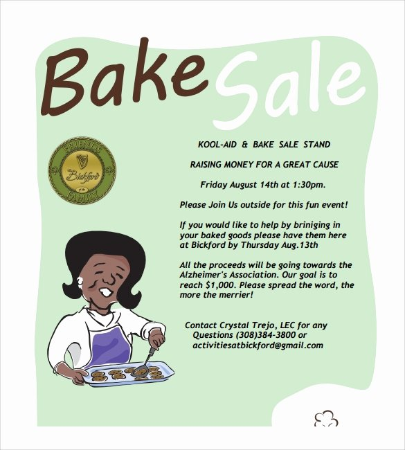 Bake Sale Flyer Template Unique 17 Bake Sale Flyers