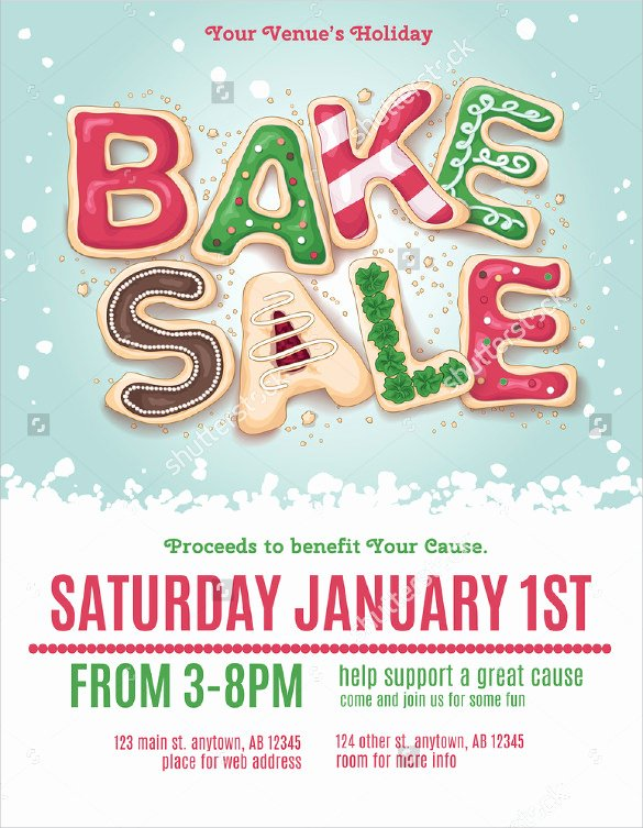 Bake Sale Flyer Template Unique 20 Bake Sale Flyer Templates