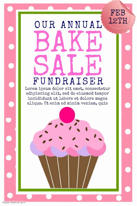 Bake Sale Flyer Template Unique Copy Of Bake Sale
