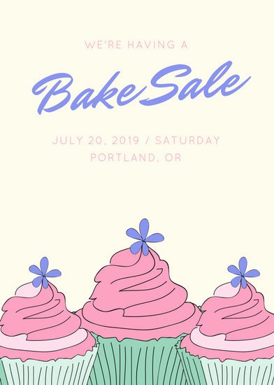Bake Sale Flyer Template Unique Sale Flyer Templates Canva