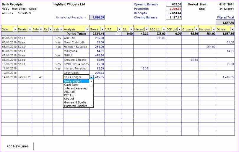 Bank Reconciliation Excel Template Best Of 6 Excel Bank Reconciliation Template Exceltemplates