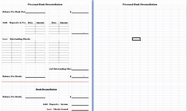 Bank Reconciliation Template Excel Awesome Excel Templates Microsoft Word Templates