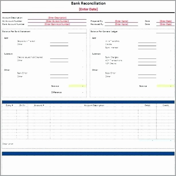 Bank Reconciliation Template Excel Best Of Bank Reconciliation Template Xls Bank Reconciliation