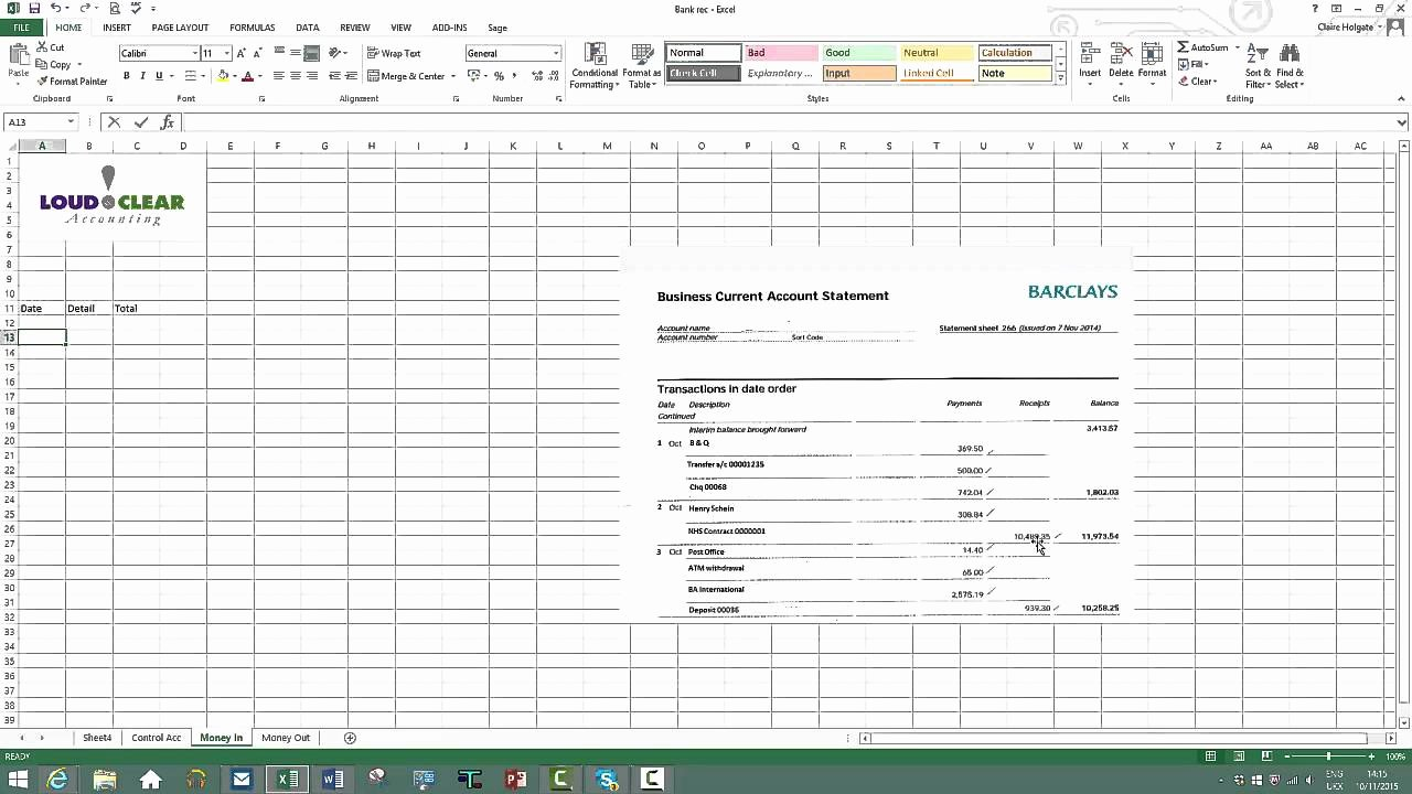 Bank Reconciliation Template Excel Elegant How to Do A Bank Reconciliation On Excel