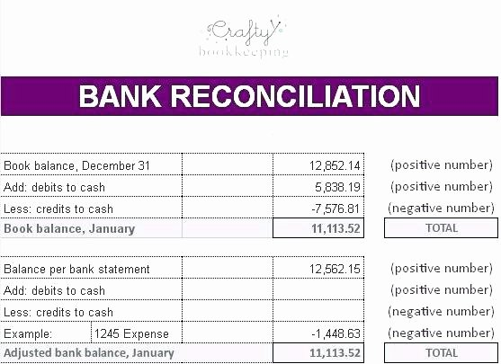 Bank Reconciliation Template Excel Unique Business Bank Reconciliation Template – Flybymedia