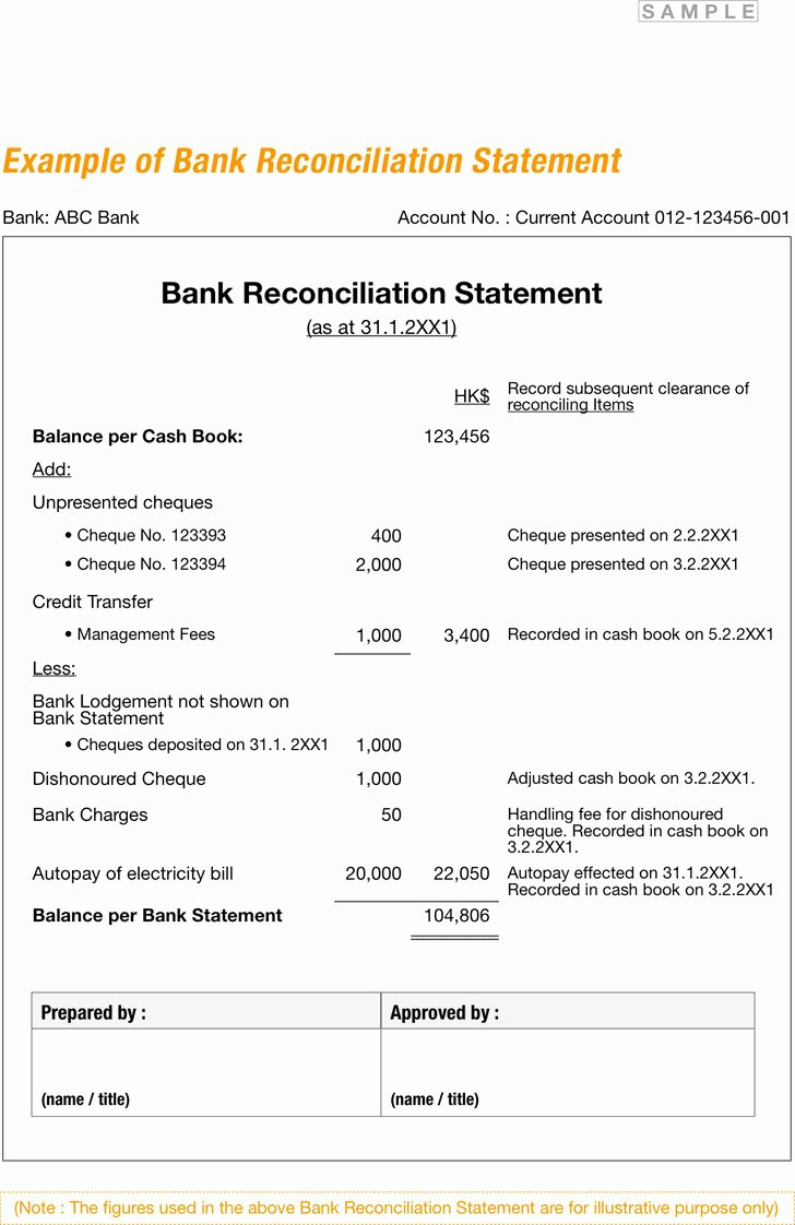 Bank Statement Reconciliation Template Awesome Bank Reconciliation Example Features Download Free Premium