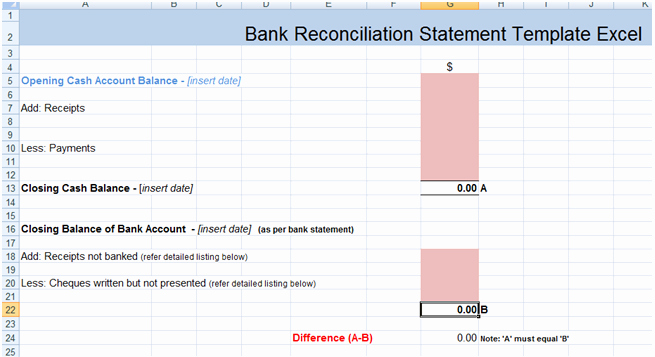 Bank Statement Reconciliation Template Luxury Bank Reconciliation Statement Excel Template Xls