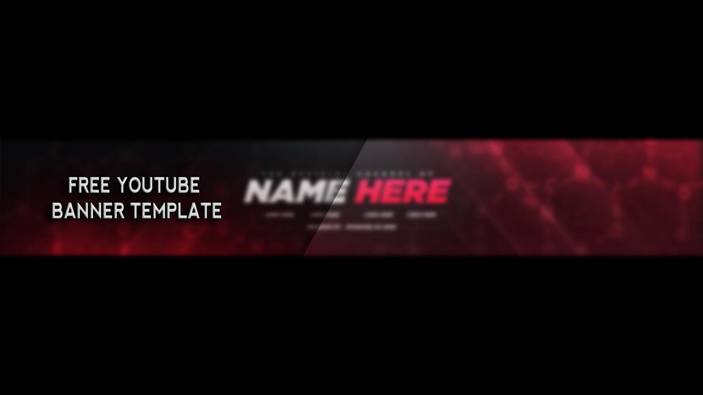 Banner Template No Text Best Of Free Youtube Banner