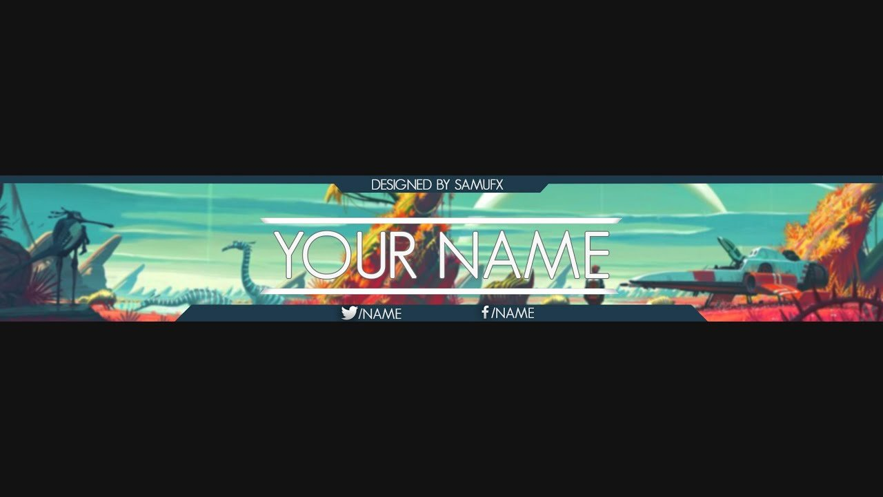 Banner Template No Text Luxury No Man S Sky Youtube Banner Template Psd