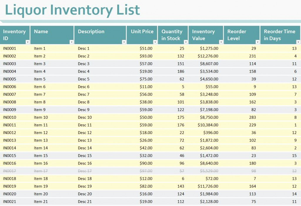Bar Inventory Spreadsheet Template Luxury Liquor Inventory Sheet